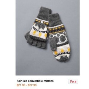 Fair isle convertible mittens. New with tags!